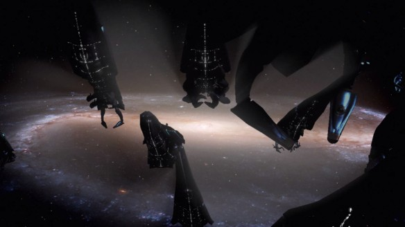 The Reapers advance on the Milky Way at the end of Mass Effect 2
