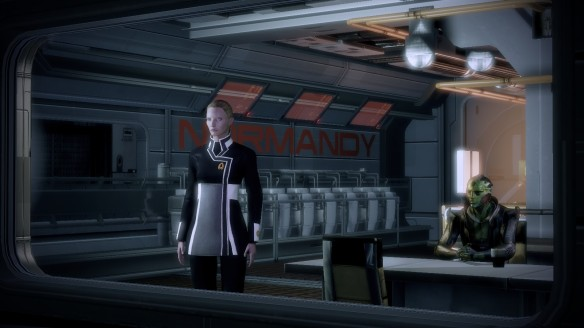 My Shepard talking with Thane Krios in Mass Effect 2