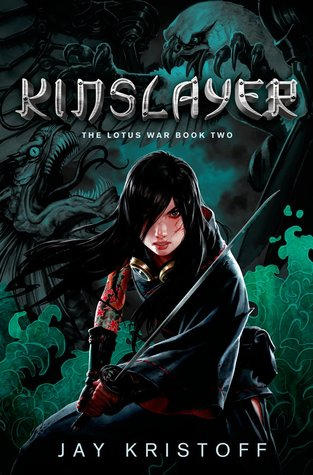 "Cover art for ""The Lotus War, book two: Kinslayer"" by Jay Kristoff"