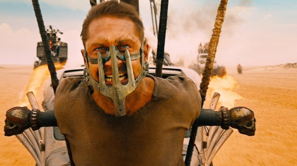 Tom Hardy as the title character in Mad Max: Fury Road