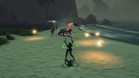 A dungeon boss battle in Skyforge's beta