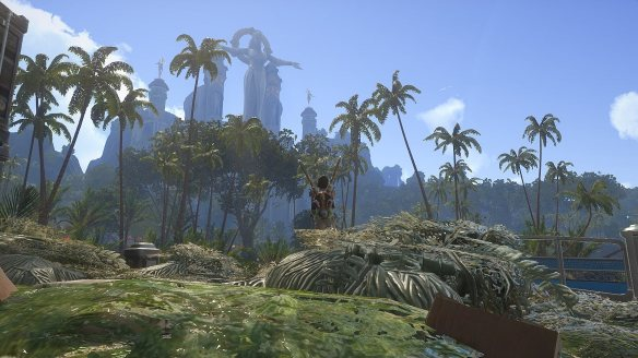 A shot from Skyforge's beta. Pretty