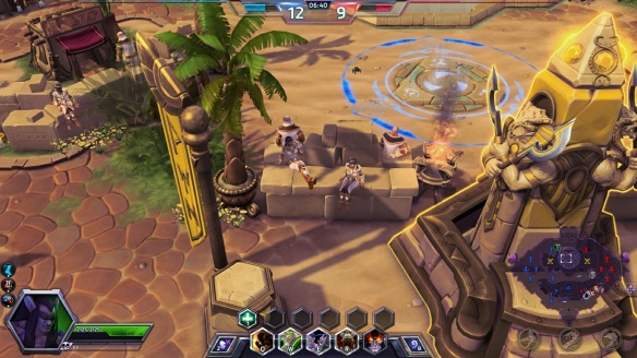Fine details on the Sky Temple map in Heroes of the Storm