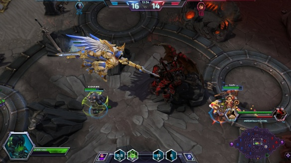 The Immortals clash on the Eternal Battleground map in Heroes of the Storm