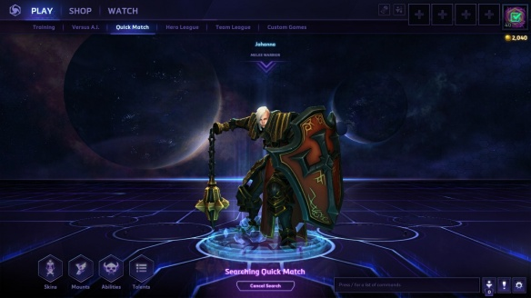 Johanna the crusader in Heroes of the Storm