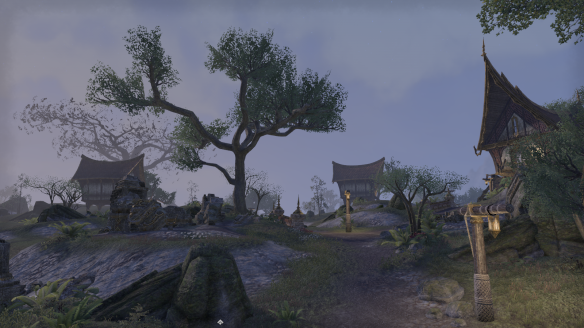 A hamlet by night in Elder Scrolls Online