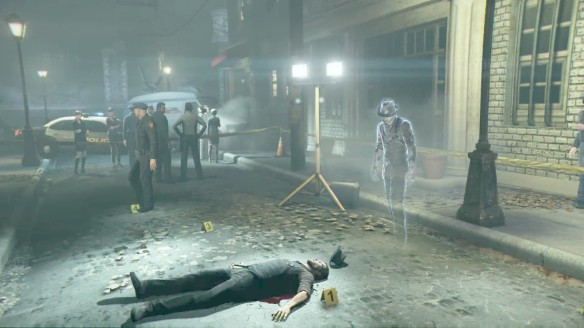 Ronan investigates his own murder scene in Murdered: Soul Suspect