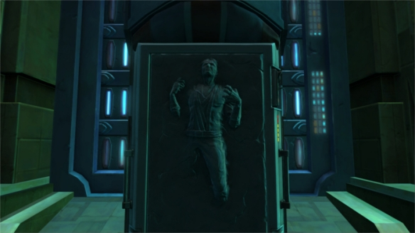 Nobody likes being frozen in carbonite