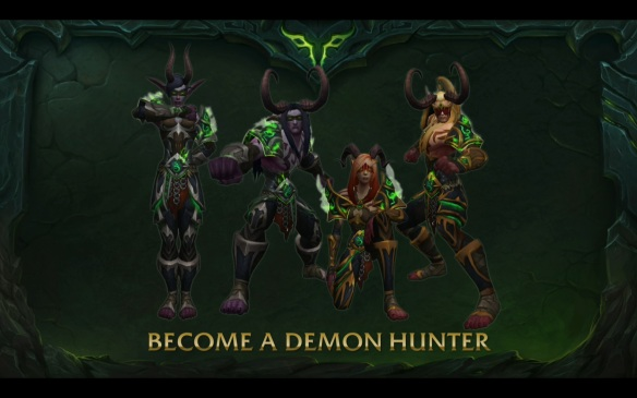 A preview of the new demon hunter class in World of Warcraft: Legion.