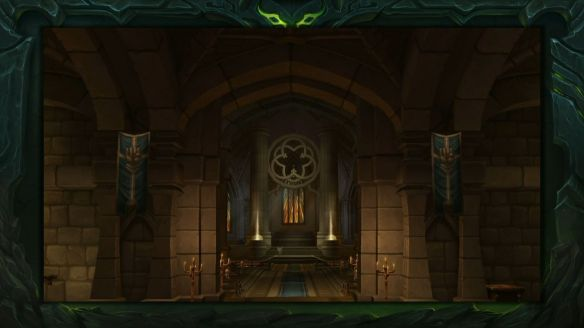 A preview shot of the paladin order hall in World of Warcraft: Legion.