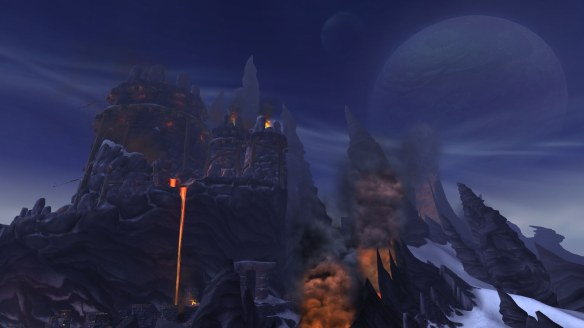 Bladespire Fortress in te Frostfire Ridge zone in World of Warcraft
