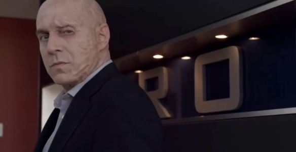 The ruined visage of Jack Dillon in Continuum's fourth season