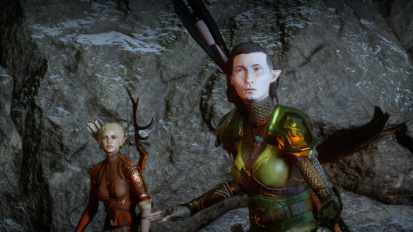 My inquisitor and Sera in Dragon Age: Inquisiton