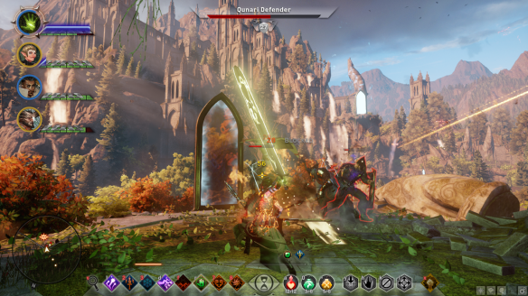 An action shot from the Trespasser DLC in Dragon Age: Inquisiton