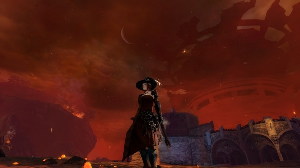 Battling Scarlet's forces in Lion's Arch in Guild Wars 2