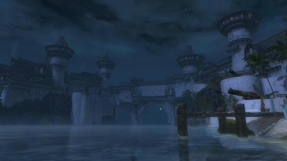The revamped Lion's Arch by night in Guild Wars 2