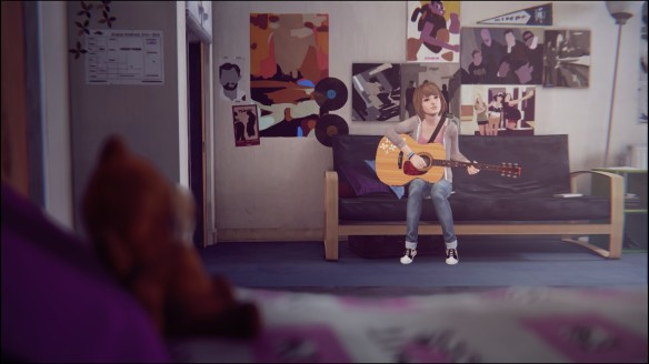 Max playing her guitar in Life Is Strange