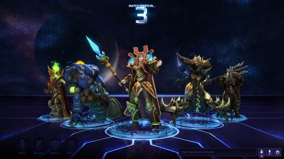 My team zoning into a match in Heroes of the Storm