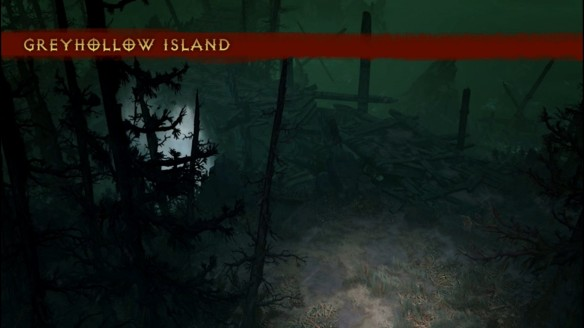 A preview image of the new Greyhollow Island zone for Diablo 3