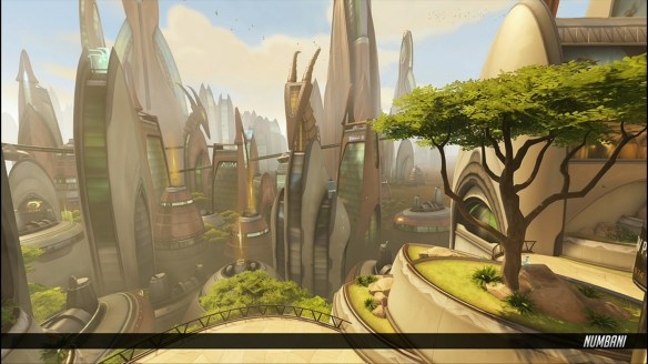 A shot of the African Numbani map in Overwatch