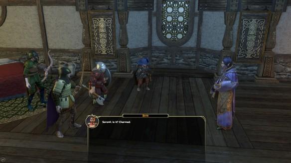 My party meeting Soronil Noonshadow in Sword Coast Legends