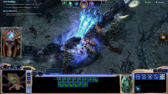 A co-op mission in StarCraft II: Legacy of the Void