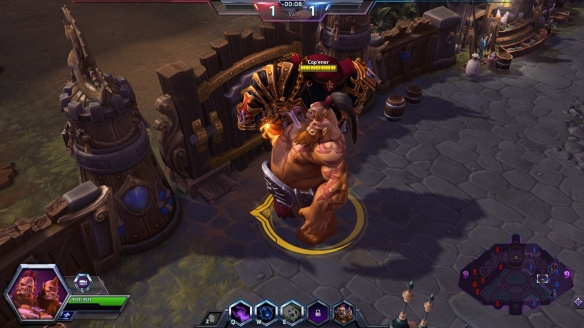 Cho'Gall horsing around in Heroes of the Storm