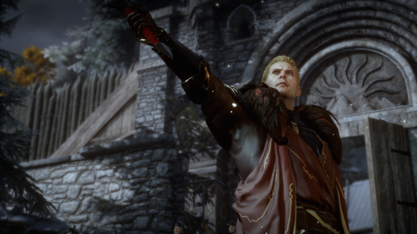Cullen leads the Inquisition forces in Dragon Age: Inquisition