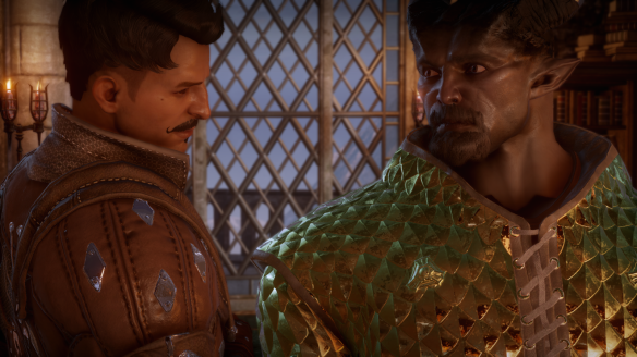 Dorian and my inquisitor get cozy in Dragon Age: Inquisition