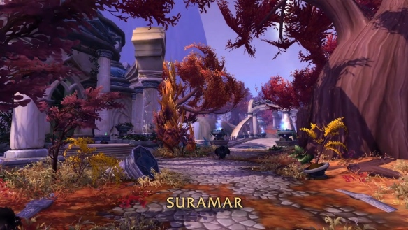 A preview shot of Suramar in World of Warcraft: Legion