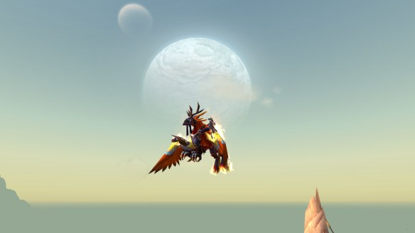 My rogue takes wing in Draenor for the first time