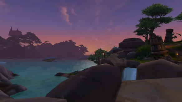 The sea coast of Ashran in World of Warcraft: Warlords of Draenor