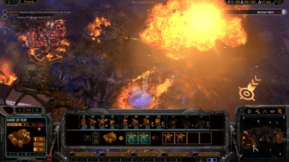 The Hand of Ruk wreaks havoc in Grey Goo