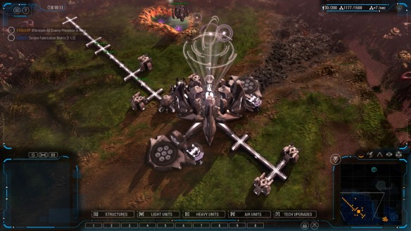 A human base in Grey Goo