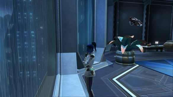 My Imperial agent plotting from her Dromund Kaas stronghold in Star Wars: The Old Republic