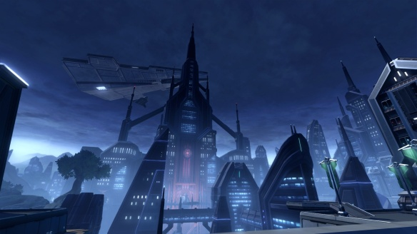 The capitol of Dromund Kaas in Star Wars: The Old Republic