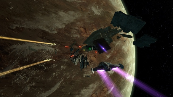 A space combat mission in Star Wars: The Old Republic