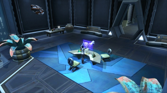 My Imperial agent's office within her stronghold in Star Wars: The Old Republic