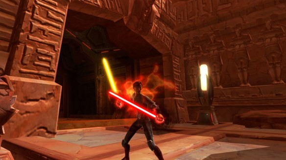 My low level Sith warrior in Star Wars: The Old Republic
