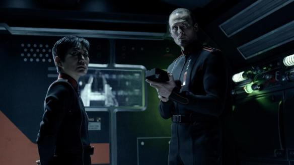 Martian naval officers in The Expanse