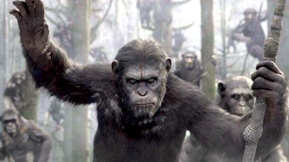 Caesar leads his people in Dawn of the Planet of the Apes