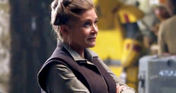 Carrie Fisher as General Leia Organa in Star Wars: The Force Awakens