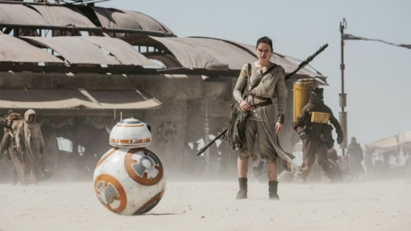 Daisy Ridley as Rey in Star Wars: The Force Awakens
