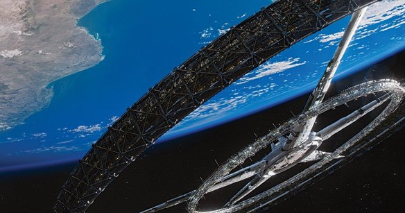 The titular space station in Elysium