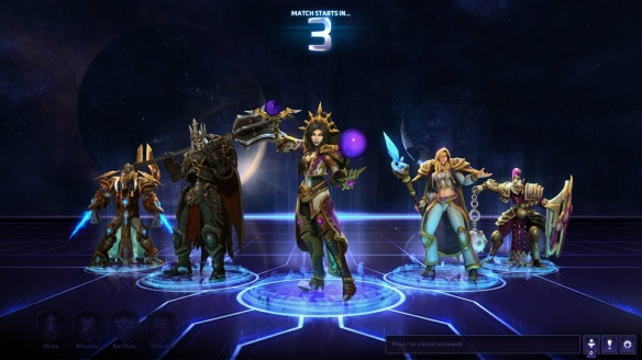Zoning into a match as Li-Ming in Heroes of the Storm