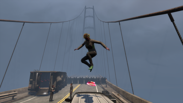 My Dragon alt plays with her hoverboard in The Secret World