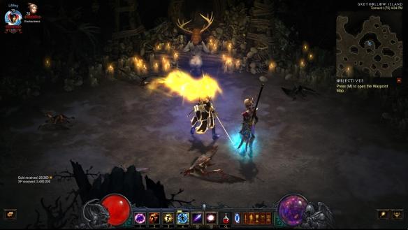 A disturbing ritual in Diablo III's Greyhollow Island zone