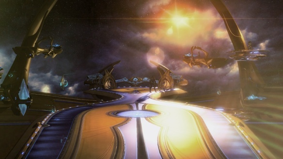 The bridge of the Spear of Adun in StarCraft II: Legacy of the Void