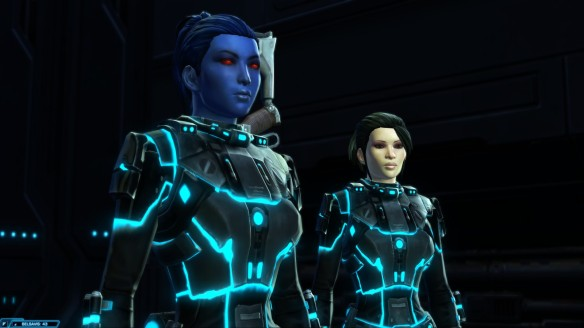 My Imperial agent and Ensign Temple in Star Wars: The Old Republic
