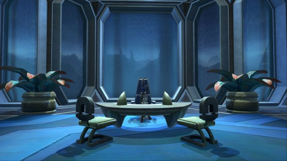 My agent at work in her stronghold in Star Wars: The Old Republic